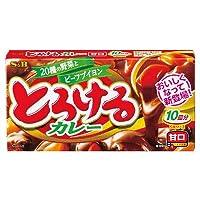 【S&B】とろけるカレー 甘口 10皿分(5皿分×2)×10個セット