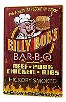 なまけ者雑貨屋 Billy Bob's Bbq ブリキ看板 メタルプレート アメリカン ヴィンテージ風 レトロ