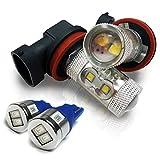 レガシィ B4 BM系 H16 LED フォグランプ T10 LED ポジションランプ ブルー お買い得 セット割 バルブ