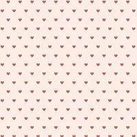 Itty Bitty Hearts写真バックドロップ5' X 5' Oat