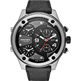 Diesel Men's Boltdown DZ7415 Black Leather Japanese Quartz Fashion Watch