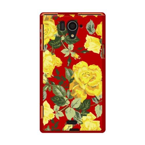 docomo ドコモ AQUOS ZETA SH-04F 対応 携帯 ケース 2778Today Roses ( Yellow ) TPUレッドベース TPU