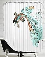 "American Flat Guppy Fish 2""Shower Curtain by Suren Nersisyan, 71""x 74"" [並行輸入品]"