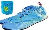 [無敵]MUTEKI 【ランニング足袋】[リストバンド付き]伝統職人の匠技が創り出すランニングシューズ《008-muteki-r-サックスブルー》