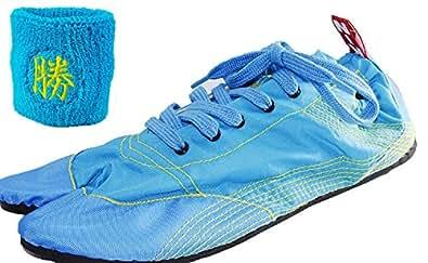 [無敵]MUTEKI 【ランニング足袋】[リストバンド付き]伝統職人の匠技が創り出すランニングシューズ《008-muteki-r-サックスブルー》 (30.0)
