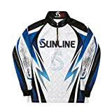 サンライン(SUNLINE) シャツ PROドライ フルジップアップ 長袖 S ホワイト STW-5555CW