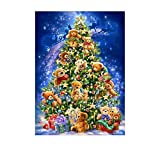 DIY 5Dダイヤモンド 刺繍キット 小熊 クリスマスツリー 刺しゅうクロスステッチ 絵画 ホームインテリア