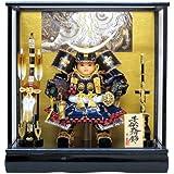 京寿 五月人形 子供大将飾り ケース入り 木製弓太刀付 間口49×奥行31×高さ51cm 6号子供大将ケース飾り YN03GTC(伊達)