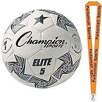 Championスポーツバンドル: Elite Soccer Balls Assorted色とサイズ+ 1 performall Lanyard