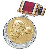 ドラえもん メダル 銀 サッカー 直径70mm 日本製 DRZ-2005S
