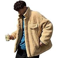 1060d34ca53a7 SINBOS 全3色メンズファー・コート ボアフリース ムートンコート ライダースジャケット 中綿ジャケット