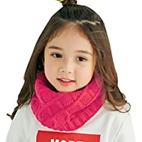 子供用 ニットスヌード ネックウォーマー ニットマフラー 首巻き 無地 筒形 ケーブル編み 暖かい 冷え対策 かわいい 子供服 スキー小物 雪遊び お出かけ クリスマス 誕生日 プレゼント 秋冬 5色