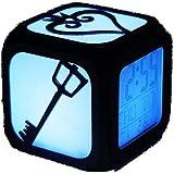 Ap&Exclusive 3DステレオLED目覚まし時計 キングダムハーツ リエイテ ィブナイト ライト電子ベッドサイド目覚まし時計-7色