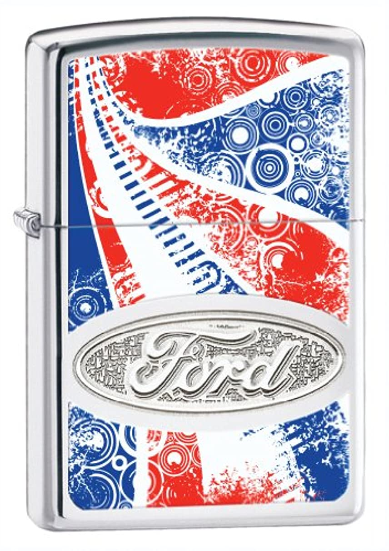 致命的な魅了する悲鳴【Zippo】ジッポーレッドホワイトアンドブルーフォードクロームライター(Red White and Blue Ford Chrome Lighter)#24946