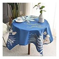テーブルクロス 正方形のテーブルクロス、綿麻のしわの自由な反退色のテーブルクロスの台所コーヒーテーブルの装飾のための洗濯できる塵証拠のテーブルカバー (Color : A, Size : 100*140cm)