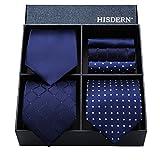 (ヒスデン) HISDERN メンズ 洗える ネクタイ ハンカチ 3本 セット 収納BOX 付き ビジネス結婚式 就活 プレゼント 様々なセットを選べる TB3003