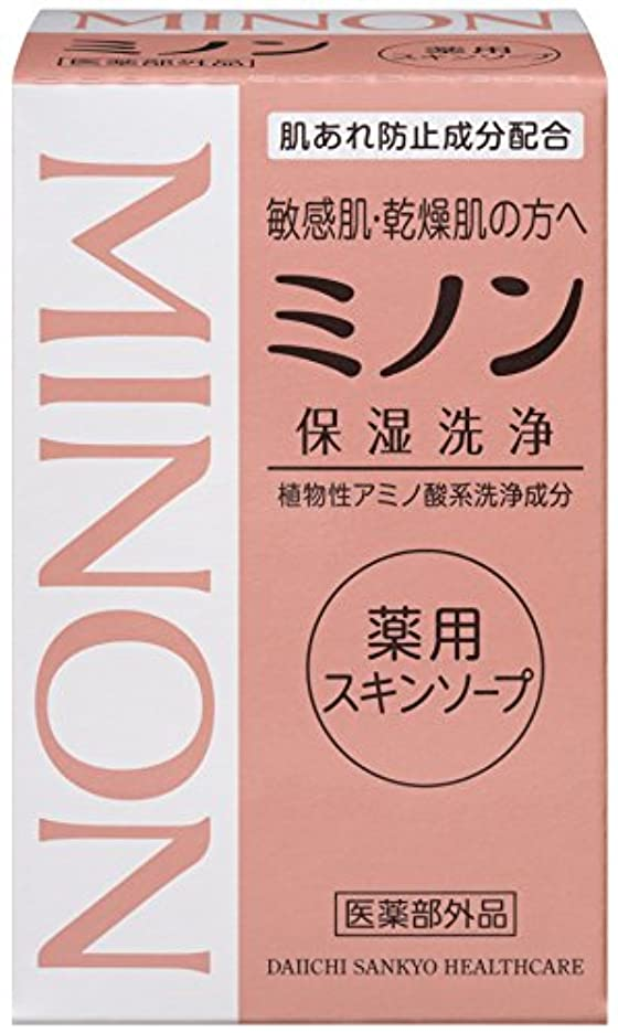 検出可能威信必要条件MINON(ミノン) 薬用スキンソープ 80g 【医薬部外品】