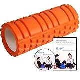 BODY-X フォームローラー 理学療法士が教える必須10エクササイズ DVD解説付き オレンジ