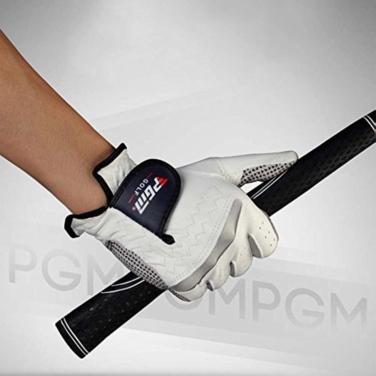 チューインガム相対サイズ操作メンズゴルフ手袋100 %本革