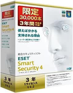 ESET Smart Security V4.2 3年1ライセンス 30000本限定パック
