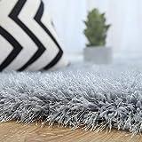長方形のカーペット、長髪のカーペットブライトシルク、子供のためのリビングルーム/ベッドルームラグ、ライトグレー (サイズ さいず : 140x200cm)