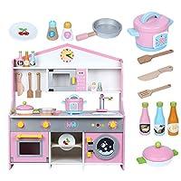 子供のおもちゃハウスパズルキッチンストーブ女の子の木製の人形のゲーム料理玩具セット知恵を発達させる。
