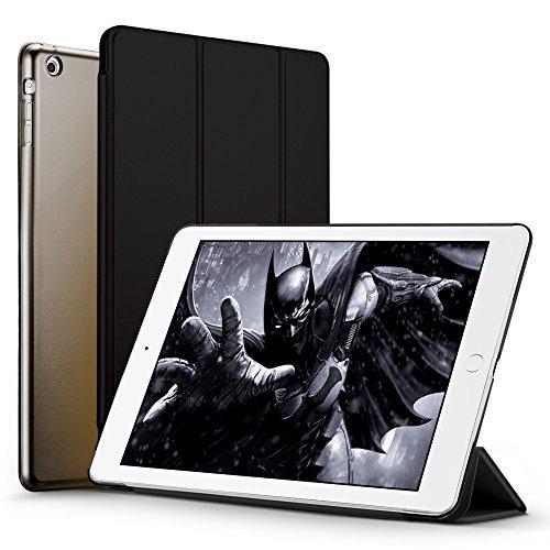 iPad Mini ケース クリア ESR iPad Mini2 ケース レザー PU iPad Mini3 ケース 軽量 スタンド機能 傷つけ防止 オートスリープ ハード三つ折 iPad Mini3/2/1(初代第二三世代)専用スマートカバー(ミステリアスブラック)