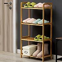 靴ラック竹マルチレイヤーシンプルなアセンブリ家庭用靴ラック棚ストレージラックShoebox (色 : 4 layer, サイズ さいず : 35cm)