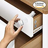 Matana Magnetic Safety Lock for Cupboard and Draws - Child and Baby Proof (12 Locks 3 Keys)