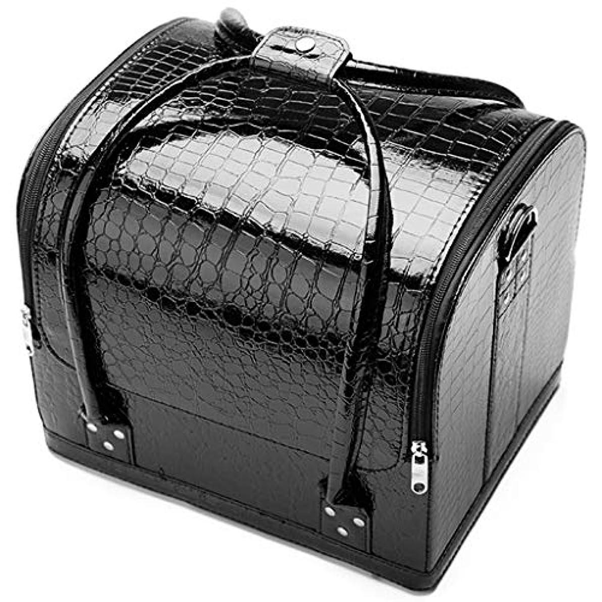 オープニング計算可能天気[テンカ] メイクボックス コスメボックス 黒 ネイリストバッグ 化粧箱 収納ケース 収納ボックス 防水 洗える 化粧品?化粧道具入れ 自宅?出張?旅行?アウトドア撮影 プロ用 大容量 多機能