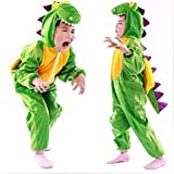 子供 コスチューム 恐竜 ザウルス 着ぐるみ フリース アニマル コスプレ 衣装 仮装 ハロウィン クリスマス 誕生日 プレゼント Lサイズ
