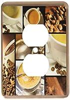3drose LSP _ 28754_ 62つプラグコンセントカバーwithコーヒーテーマコラージュ