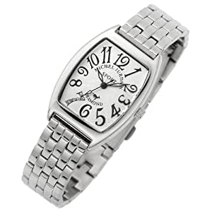 [ミッシェルジョルダン]michel Jurdain 腕時計 ダイヤモンド 5P 入り トノー型  メタル ベルト レディース ウォッチ ホワイトxブラック SL-1000A-11B レディース