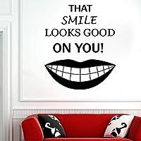 xueshao 歯科医院の壁のステッカーの歯科治療の取り外し可能なビニールの窓の壁のステッカー歯科医院のラウンジのための装飾的なステッカー68x57cm