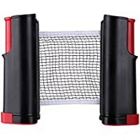 Sumnacon ポータブル卓球ネット 開閉式 卓球 収納袋付き