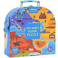 siyushopワールドマップパズルおもちゃベビー – ボーイズ、ガールズ誕生日ギフト( 100 )