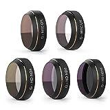 DOUPRO PGY DJI Mavic Pro レンズフィルター UVフィルター ND減光フィルター CPL偏光フィルター 5点セット UV CPL ND4 ND8 ND16 カメラ保護フィルター 光学ガラス 航空アルミフレーム「ドローンが含まれておりません」