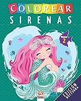 Colorear sirenas - Volumen 2 - Edición nocturna: Libro para colorear para niños - 25 dibujos (sirenas colorear - Nocturna)