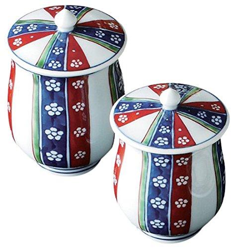 湯のみ おしゃれ : 有田焼 亮秀窯 元禄梅 ペア湯呑 Japanese Pair cup Porcelain/Size(cm) L, Φ7.2x10.5, S, Φ6.8x9.5/No:066927