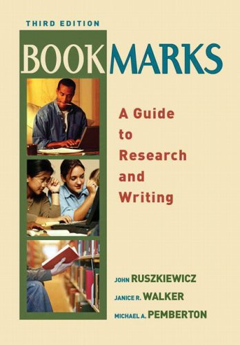 Download Bookmarks: A Guide to Research and Writing 0321271343
