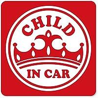 imoninn CHILD in car ステッカー 【マグネットタイプ】 No.17 王冠 (赤色)