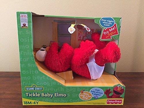세서미 스트리트 베이비 에르모 봉제인형 Fisher Price Sesame Street Tickle Baby Elmo - NEW IN BOX! RARE! [병행수입품]-q1