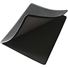 Cat Litter Mat with Scatter Control Large, Dual Structure 3-way Access Ez2clean 30inch x 23inch Litter Box Mat. Grab litters and Super easy to clean because of dual structure and 3-way access (Dark Grey)