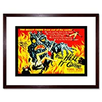 Movie Film From Hell It Came Monster Horror Andrews Carver Art Framed Wall Art Print 映画膜からモンスターホラー壁