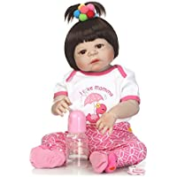 SanyDoll Rebornベビー人形ソフトSilicone 22インチ55 cm磁気Lovely Lifelike Cute Lovely Baby b0763kyxmh