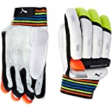 Puma, Cricket, Evospeed 6 Batting Gloves 2016, Men's, Lava Blast/Safety Yellow, Right Hand