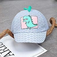 LORAER Qianer 赤ちゃん 野球帽 キャップ メッシュ 日よけ帽子 恐竜 カートゥーン ベビー 男女兼用 日焼け止め UVカット 無地 可愛い おしゃれ 速乾性 通気性 お誕生日 祝い お出かけ 公園 プレゼント(グレー)