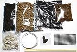 【雑木 小品 盆栽 向け 植え替え セット】用土 1,000cc 鉢底石 鉢底ネット アルミ線 竹箸 肥料