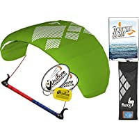 hq4 Fluxx 1.8 MトレーナーKite TR Plus Kiteboarding DVDバンドル( 4 Items ) Includes ' The Way to Fly '初心者Kitesurfing Instructional + WindBone Kiteライフスタイルデカール+キーチェーン:電源Traction Train
