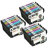 【Kingjet製】EPSON エプソン 互換インク IC6CL50 高品質 エプソン 互換インクカートリッジ残量検知機能 最新ICチップ付け 風船 6色セット(IC6CL50)×3パック(計18個入り)